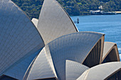 The Opera House close up with the harbor in the background, Sydney, New South Wales, Australia