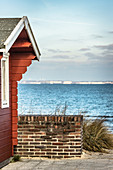 View of the beach house and the Baltic Sea, Timmendorfer Strand, Germany
