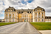 View of Augustusburg Castle from the promenade, Bruehl, NRW, Germany