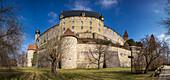 West side of the Veste Coburg, Coburg, Upper Franconia, Bavaria, Germany