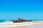 Maheno Schiffswrack, Fraser Island, Queensland, Australien,