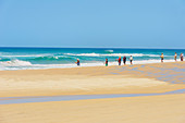 People fishing on the beach, Great Sandy National Park, Fraser Island, Queensland, Australia