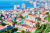 Valparaiso, high angle view, Chile, South America