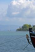 Figurehead of a tour boat in Gouvia, Corfu Island, Ionian Islands, Greece