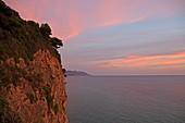 Mirtiotissa Strand, an der Westküste unterhalb des Ortes Pelekas gelegen gilt als einer der schönsten Strände der Insel Korfu, Ionische Inseln, Griechenland