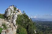Kaizer's Throne, einer der beliebtesten Aussichtspunkte der Insel liegt hoch über Pelekas, Insel Korfu, Ionische Inseln, Griechenland