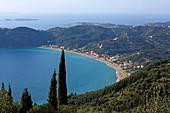 Bucht von Agios Georgios Pagon, Insel Korfu, Ionische Inseln, Griechenland