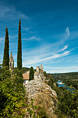 Aiguèze, one of the most beautiful villages in France, Les plus beaux villages de France, Gorges de l'Ardèche, Gard department, Auvergne-Rhône-Alpes region, France