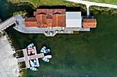 France, Charente-Maritime, Oleron island, Port of Salines, Grand Village (aerial view)