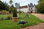 France, Calvados, Pays d'Auge, 15th and 16th century Saint Germain de Livet Castle labeled Museum of France