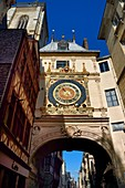France, Seine-Maritime, Rouen, the Gros Horloge is an astronomical clock dating back to the 16th century