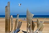 France, Calvados, Saint Laurent sur Mer, Omaha Beach, The Braves memorial work of the sculptor Anilore Banon Anilore Banon