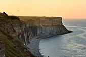 France, Calvados, Arromanches les Bains, cliffs of Cap Manvieux