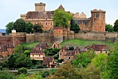 France, Lot, Prudhomat, Castle of Castelnau Bretenoux (XI-XVIIe), listed Historic Monument