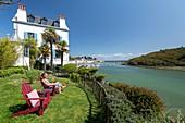 France, Morbihan, Belle-Ile island, Sauzon, the bed and breakfast Villa Pen Prad