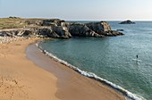 France, Morbihan, Saint-Pierre-Quiberon, paddle at the beach of Port Bara