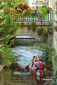 France, Morbihan, Pontivy, kayak on Blavet river