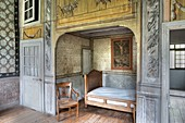 France, Savoie, Chambery, a room of the Charmette summer residence of Jean Jacques Rousseau