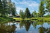 France, Haute Saone, Melisey, les milles etangs, Ponds of Rouillons