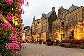 France, Morbihan, Rochefort en Terre, labelled les plus beaux villages de France (The Most Beautiful Villages of France), Place du Puits