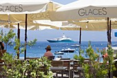 France, Corse du Sud, Belvedere Campomoro, Campomoro, bar on the seafront
