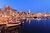 France, Var, Sanary sur Mer, the port, Christmas illuminations