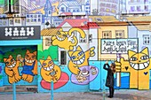 France, Bouches du Rhone, Marseille (6th district), Cours Julien area, street art (2015) directed by M.Chat
