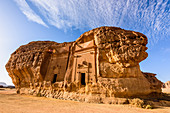 Hegra, also known as Mada'in Salih, or Al-Hijr, archaeological site, Nabatean carved rock cave tombs