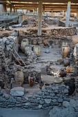 Prehistoric Town of Akrotiri, Santorini, Cyclades, Greek Islands, Greece, Europe