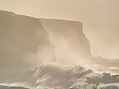 Storm surge, Loop Head, County Clare, Munster, Republic of Ireland, Europe