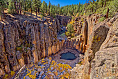 Cliffs of Sycamore Falls with dry inactive waterfalls, Kaibab National Forest near Williams, Arizona, United States of America, North America