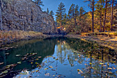 Pomeroy Tanks near Sycamore Falls, located in the Kaibab National Forest near Williams, Arizona, United States of America, North America