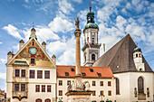 Marienplatz von Freising, Upper Bavaria, Bavaria, Germany
