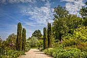 In the courtyard garden of Freising, Upper Bavaria, Bavaria, Germany