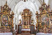 Hofmarkkirche in Bernried am Starnberger See, Upper Bavaria, Bavaria, Germany