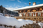 Country house near Berchtesgaden, Upper Bavaria, Bavaria, Germany