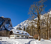 Old country house near St. Bartholomä am Koenigssee, Upper Bavaria, Bavaria, Germany