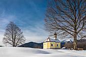 Maria Rast Chapel near Krün, Upper Bavaria, Bavaria, Germany