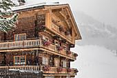 Historic mountain farm Alblerhof in limestone, Innervillgraten, Villgratental, East Tyrol, Tyrol, Austria