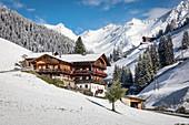 Old mountain farm in the rear Villgratental, East Tyrol, Tyrol, Austria