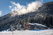 Old mountain farms in the rear Villgratental, East Tyrol, Tyrol, Austria