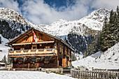 Jausenstation Unterstalleralm in the Arntal, Innervillgraten, Villgratental, East Tyrol, Tyrol, Austria