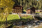 Old farm at the Winkeltalbach in the Winkeltal ,utservillgraten, Villgratental, East Tyrol, Tyrol, Austria