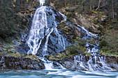 Haslacher Schleierwasserfall, Kalser Tal, Kals am Großglockner, East Tyrol, Tyrol, Austria
