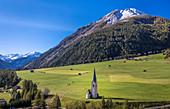 Filialkirche St. Georg in Großdorf with Rotelkogel (2,762 m), Kals am Großglockner, East Tyrol, Tyrol, Austria