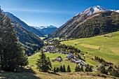 Kals am Großglockner with Rotelkogel (2,762 m), East Tyrol, Tyrol, Austria