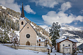 Pilgrimage church Maria Schnee in limestone, Innervillgraten, Villgratental, East Tyrol, Tyrol, Austria