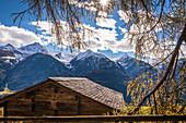Berghütte im Zedlacher Paradies, Virgental, Osttirol, Tirol, Österreich