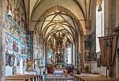 Innenraum der Wallfahrtskirche Maria Schnee in Obermauern, Virgental, Osttirol, Tirol, Österreich