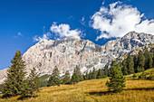 Zugspitz massif from the Gaistal, Ehrwald in Tirol, Tyrol, Austria